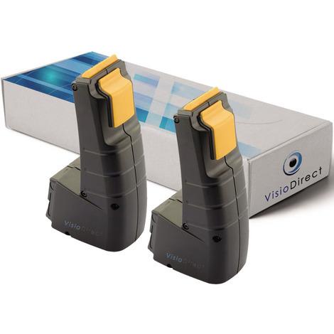 Lot de 2 batteries pour Festool FSP-487512 outils sans fil 2000mAh 9.6V