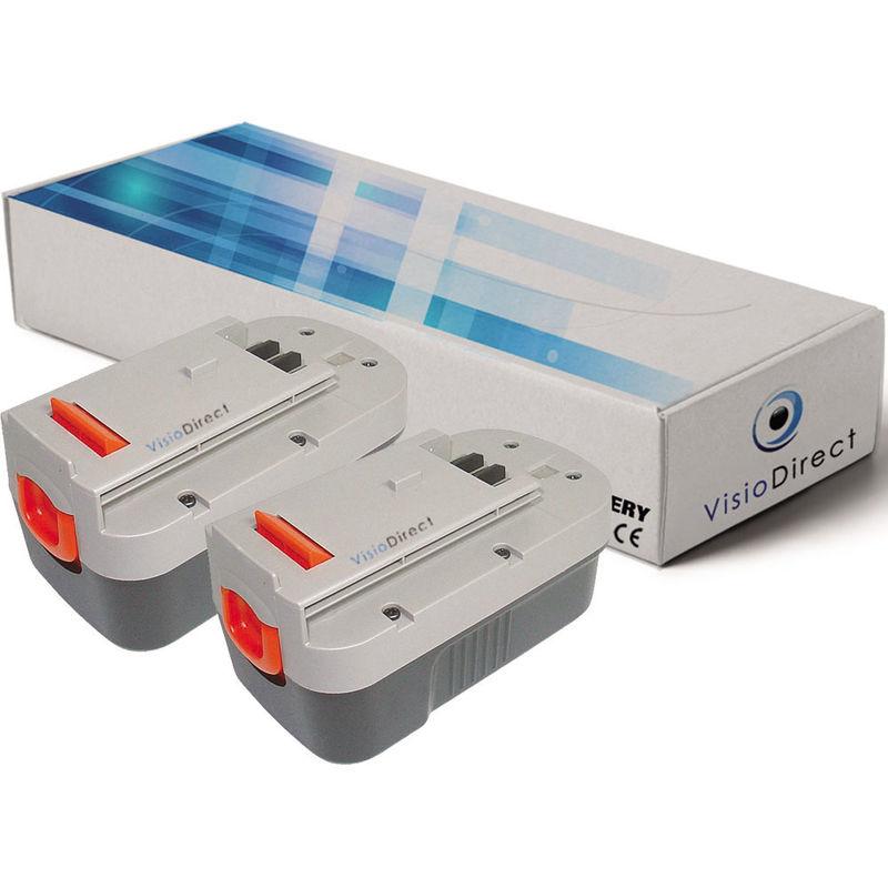 Visiodirect - Lot de 2 batteries pour FIRESTORM GPC1800 GPC1820L/LB GTC1843L/LB 3000mAh 18V