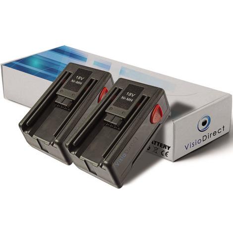 Lot de 2 batteries pour Gardena SmallCut 300 taille-haies 1500mAh 18V