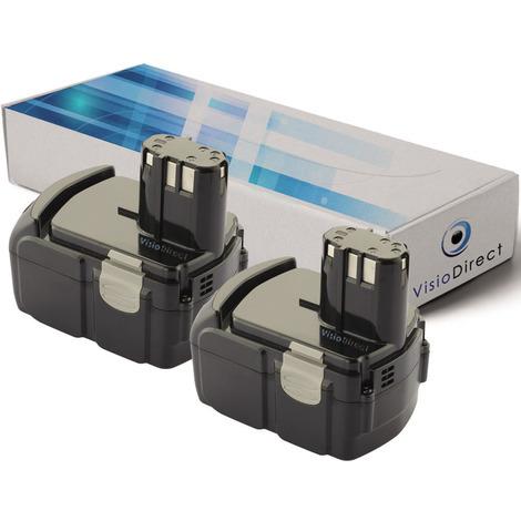 """main image of """"Lot de 2 batteries pour Hitachi CJ 18DLX scie sauteuse 3000mAh 18V"""""""