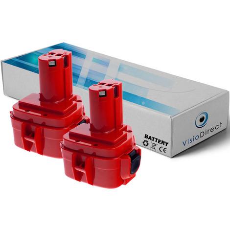 Lot de 2 batteries pour Makita 6217D marteau perforateur 3000mAh 12V