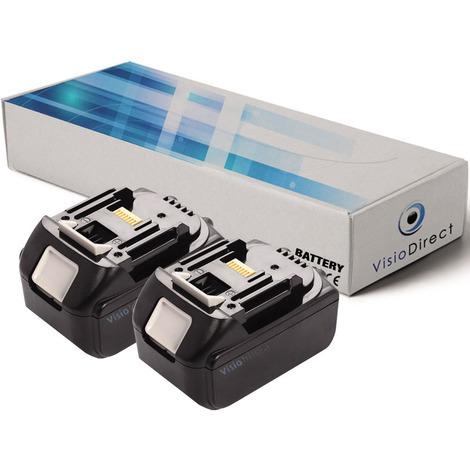 Lot de 2 batteries pour Makita BBO180 ponceuse excentrique 3000mAh 18V