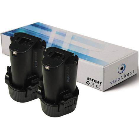 Lot de 2 batteries pour Makita LM01 lampe torche 1500mAh 10.8V
