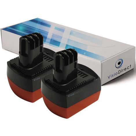 Lot de 2 Batteries pour Metabo BSZ12 12V 2000mAh