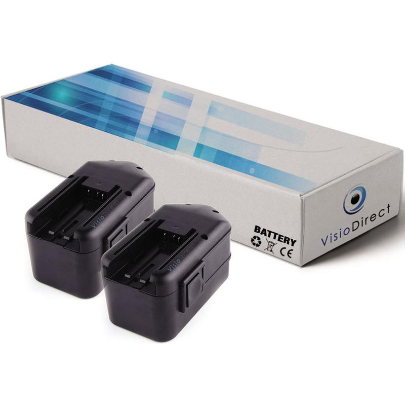 Lot de 2 batteries pour Milwaukee 3109-21 perceuse visseuse 3300mAh 18V