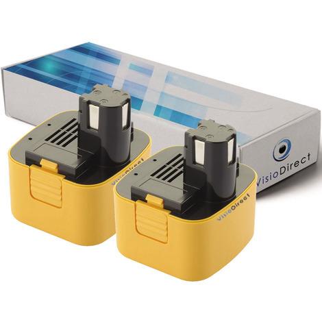 Lot de 2 batteries pour Panasonic EY3550DQG scie circulaire 3300mAh 12V