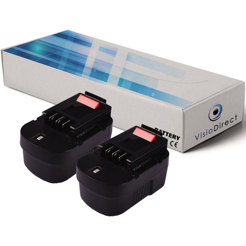 Visiodirect - Lot de 2 batteries type A14 pour Black et Decker 3000mAh 14.4V