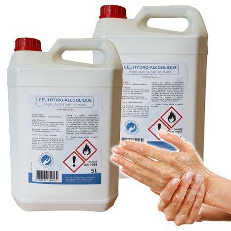 Lot de 2 bidons de 5L de gel hydroalcoolique