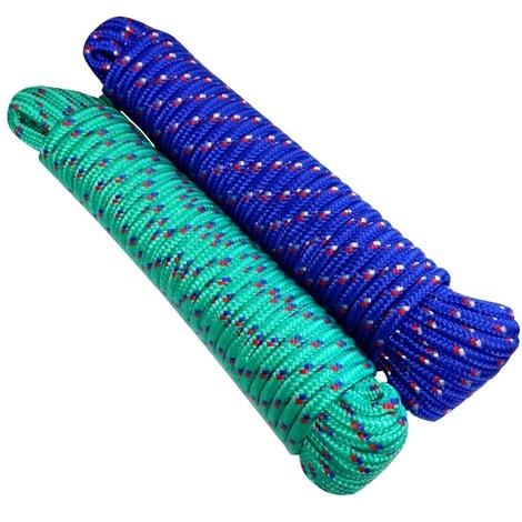 Lot de 2 bobines de corde fil à linge 7mm 20m couleurs variables