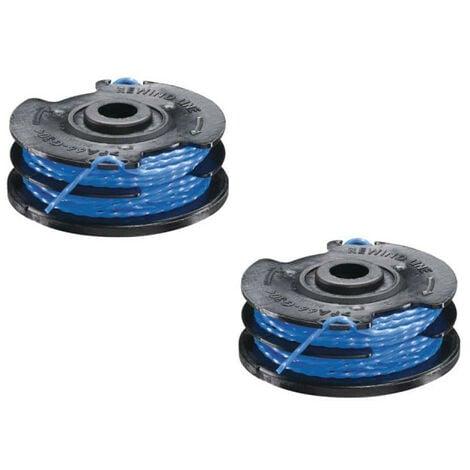 Lot de 2 bobines double fil torsadé RYOBI 1.5mm pour coupe-bordures - RAC109