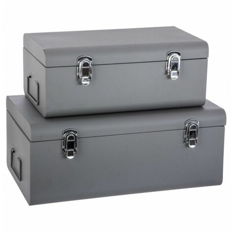 Lot de 2 boîtes cantine en métal - Atmosphera