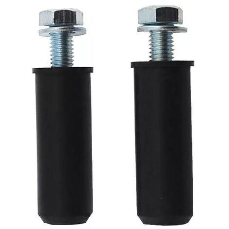Lot de 2 boulons M8 de fixation goudron/asphalte (diam. 8mm)