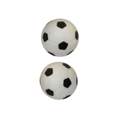 Lot de 2 boutons de porte et de tiroir de meuble en porcelaine blanc de Ø 31mm, pour chambre enfant, HANDBALL