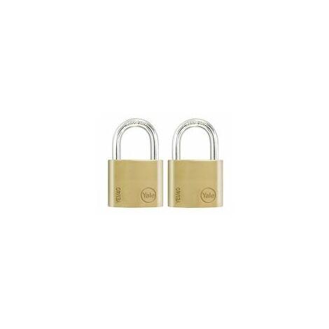 Lot de 2 cadenas marche-ensemble 30mm, idéal pour les casier, armoiresboite à outils. - FICHET - - YE1301152.