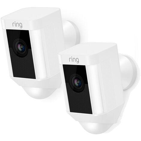 Lot de 2 caméras autonomes extérieures - Spotlight Cam Battery (Blanc) - Ring - Blanc