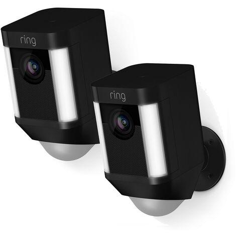 Lot de 2 caméras autonomes extérieures - Spotlight Cam Battery (Noir) - Ring - Noir