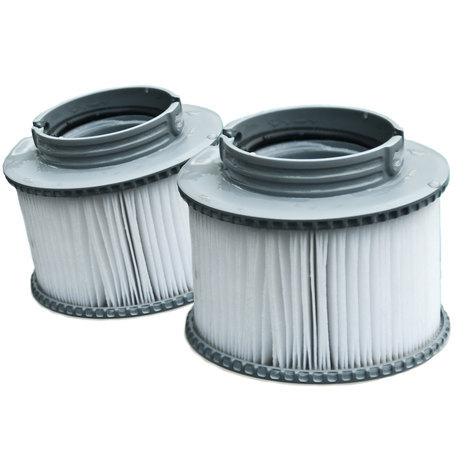 Lot de 2 cartouches filtrantes à baïonnette pour spa gonflable MSPA