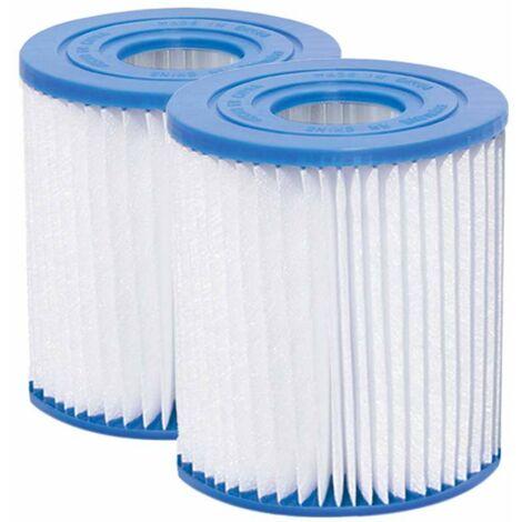 Lot de 2 cartouches pour filtre de piscine Type D Summer Waves
