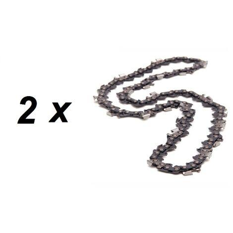 Lot de 2 chaînes 76 maillons pour tronçonneuse guide 50 cm (20 pouces)