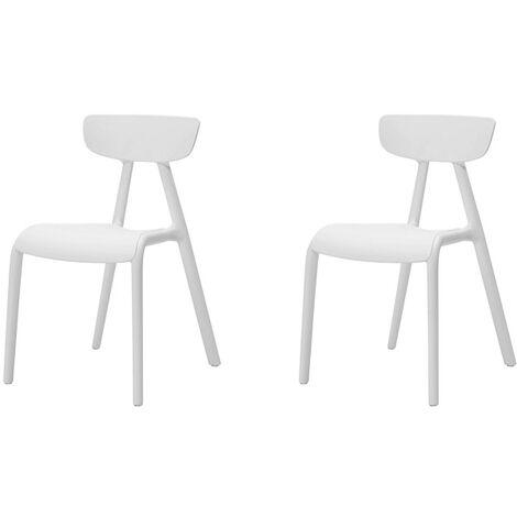 Lot de 2 Chaise Enfant Design Chaise pour Enfants Siège Garçons et Filles Confortable Blanc KMB15-Wx2 SoBuy®