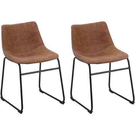 Lot de 2 chaises confortables au design rétro
