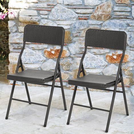 effet d'appoint 2 résine portables Lot de chaises pliantes 5cAq4L3Rj