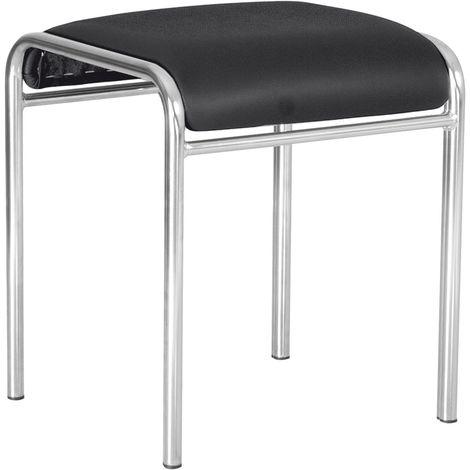 Lot de 2 chaises de cuisine / tabourets de bar caddy. 4 pieds. Noir.