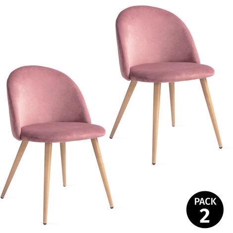 "main image of ""Mc Haus - Pack 2 chaises SOFI design nordique salle manger 49x46x77cm"""