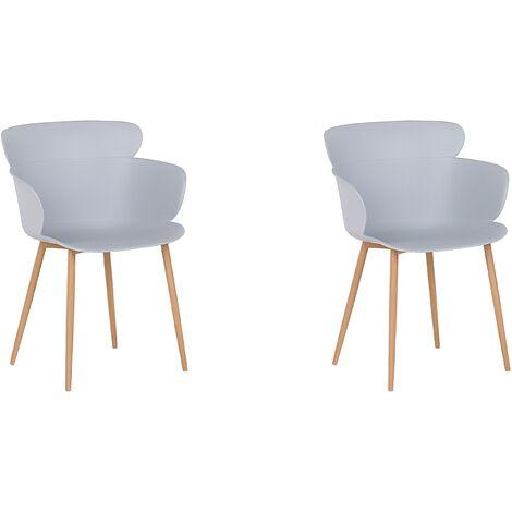 Lot de 2 chaises de salle à manger grises SUMKLEY