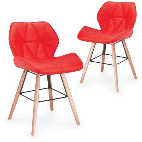 Lot de 2 chaises design Ophir Rouge