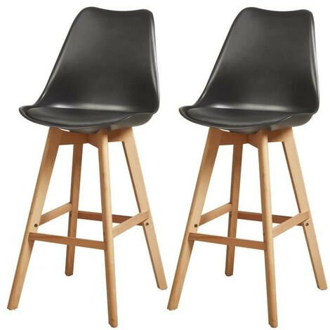 Lot de 2 chaises hautes style scandinave H65cm