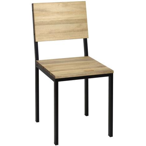 Lot de 2 chaises Icub. démontables. Noir 41x50x86cm. Effect Vintage