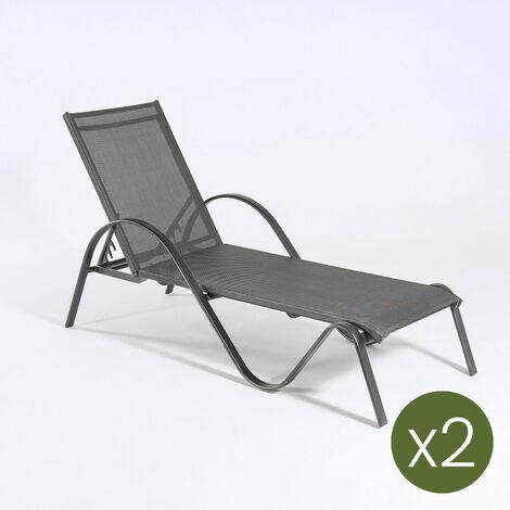 Lot de 2 chaises Longues Kalmon Collection Tumbona Antracita - https://images-na.ssl-images-amazon.com/images/I/71okY3ADBkL._SL1500_.jpg