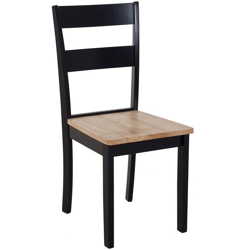 Lot de 2 chaises marron clair et noires GEORGIA