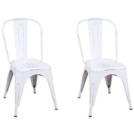 Lot de 2 chaises mod. Tolix