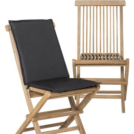 Lot de 2 chaises pliantes en teck pour extérieur