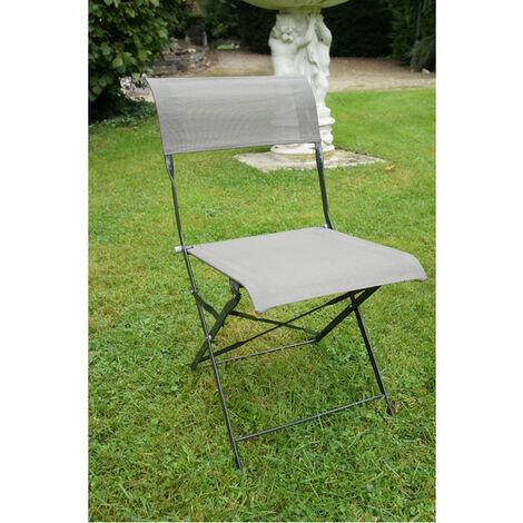 Lot de 2 chaises pliantes en textile CITADYNE grise