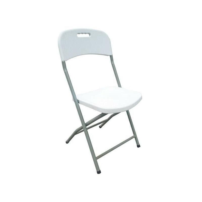 Lot de 2 chaises pliantes Poudre enduits ossature d'acier 42 x 42 x 87 cm Tube en acier Ø 19 x 1 mm