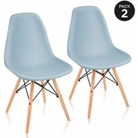Lot de 2 Chaises retro de Nordic Design – McHaus