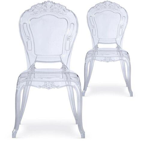 Lot de 2 chaises royales Crown Transparent - Transparent