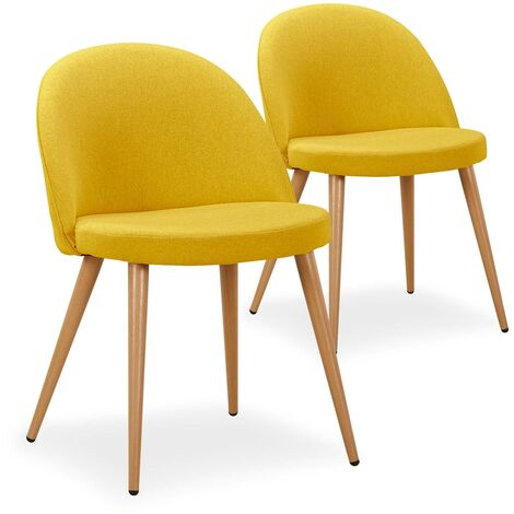 Chaise scandinave jaune à prix mini | Soldes jusqu'au 11