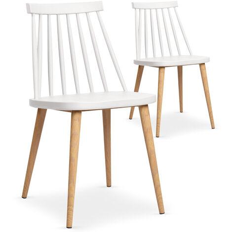 Lot de 2 chaises scandinaves Trouville Blanc - Blanc