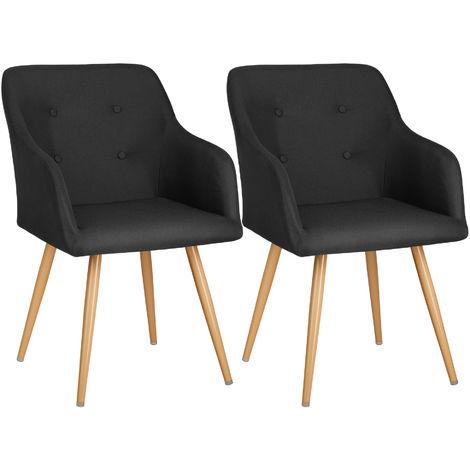 Lot de 2 chaises style scandinave TANJA - chaise scandinave, fauteuil scandinave, chaise vintage