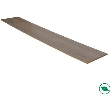 Lot de 2 Contremarche stratifié chêne gris 1000 x 200 x 8 mm