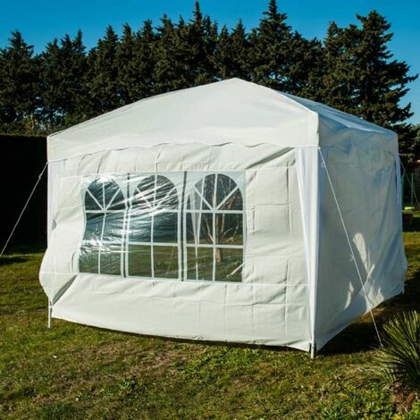 Lot de 2 cotés de tente pliable blanc mur et fenêtre