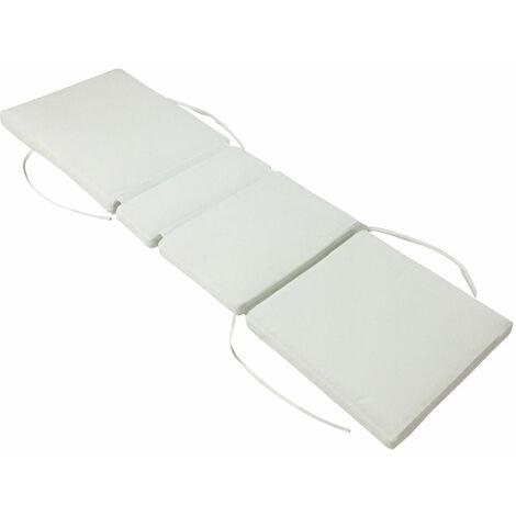 Lot de 2 coussins de bain de soleil - beige 200 × 60cm - Beige