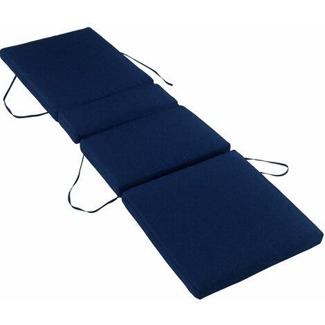 Lot de 2 coussins de bain de soleil - bleu 200 × 60cm - Bleu