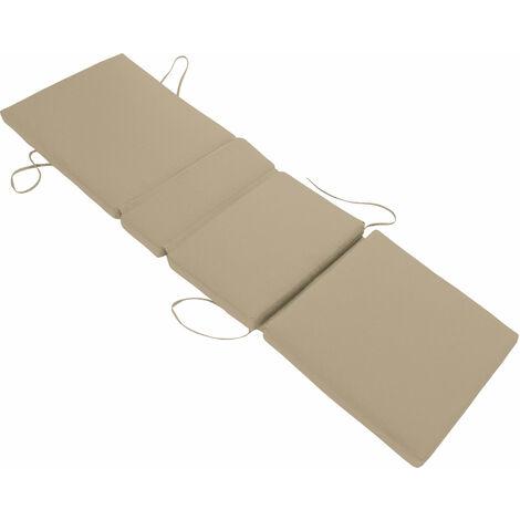 Lot de 2 coussins de bain de soleil - taupe 200 × 60cm - Marron