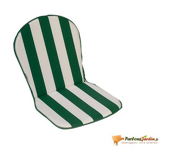 Lot de 2 coussins pour fauteuil Cancale vert