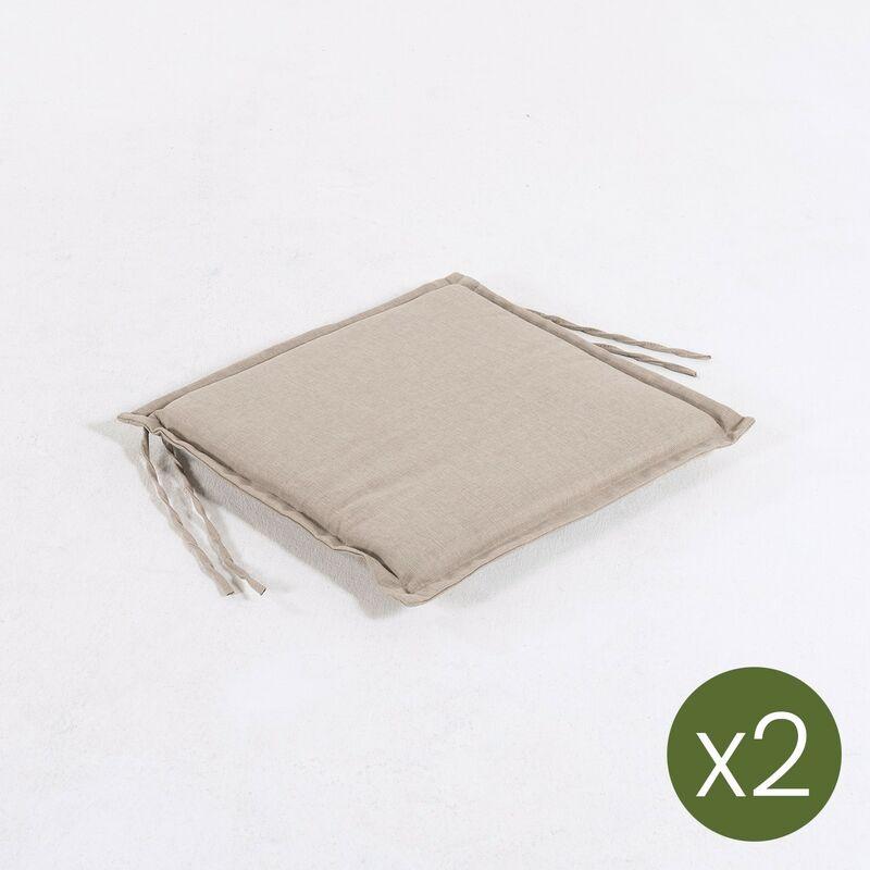 Lot de 2 coussins pour fauteuil pliant pour jardin Oléfine couleur marron grillé| Dimensions: 40x42x4 cm | Il ne perd pas de couleur | Résistant aux